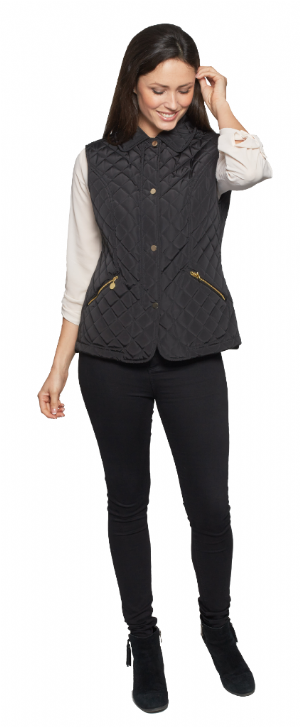 Womens Luxury Diamond Quilted Gilet db551